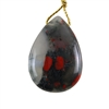 Natural Bloodstone Gemstone - Pear Pendant 27x38mm Pkg - 1