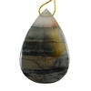 Natural Bloodstone Gemstone - Pear Pendant 34mm x 51mm Pkg - 1