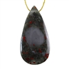Natural Bloodstone Gemstone - Pear Pendant 31mm x 62mm - Pak of 1