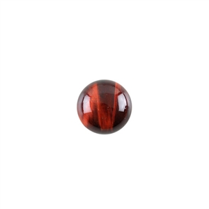 Natural Tiger Eye Red Gemstone - Cabochon Round 12mm - Pak of 3
