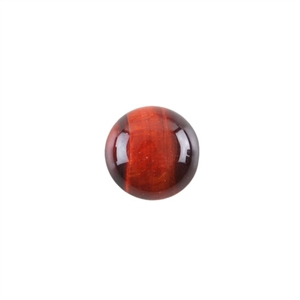 Natural Tiger Eye Red Gemstone - Cabochon Round 14mm - Pak of 2