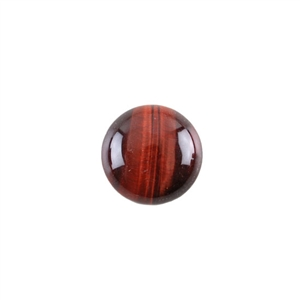 Natural Tiger Eye Red Gemstone - Cabochon Round 15mm - Pak of 1