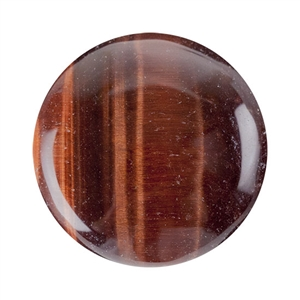 Natural Tiger Eye Red Gemstone - Cabochon Round 25mm - Pak of 1