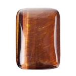 Natural Tiger Eye Red Gemstone - Cabochon Rectangle 13x18mm - Pak of 2