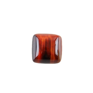 Natural Tiger Eye Red Gemstone - Cabochon Square 12mm - Pak of 3