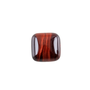 Natural Tiger Eye Red Gemstone - Cabochon Square 15mm - Pak of 1
