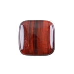 Natural Tiger Eye Red Gemstone - Cabochon Square 25mm - Pak of 1