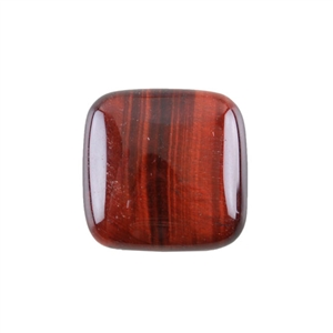 Natural Tiger Eye Red Gemstone - Cabochon Square 25mm Pkg - 1