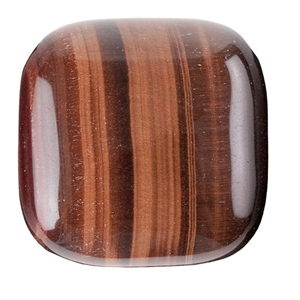 Natural Tiger Eye Red Gemstone - Cabochon Square 30mm - Pak of 1