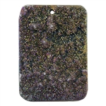 Titanium Electroplated Druzy Gemstone - Freeform Pendant 36mm x 51mm - Pak of 1