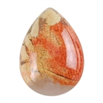 Natural Brecciated Jasper Gemstone - Cabochon Pear 13x18mm Pkg - 2