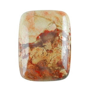 Natural Brecciated Jasper Gemstone - Cabochon Rectangle 22x30mm - Pak of 1