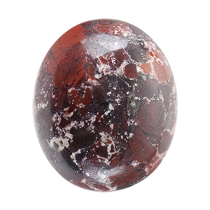 Natural Fancy Jasper Gemstone - Cabochon Oval 10mm x 12mm Pkg - 1