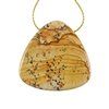 Desert Jasper Gemstone - Pendant Trillion 40x41mm - Pak of 1