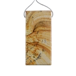 Desert Jasper Gemstone - Pendant Rectangle 27mm x 57mm Pkg - 1