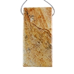 Desert Jasper Gemstone - Pendant Rectangle 25mm x 51mm - Pak of 1