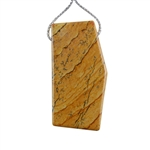 Desert Jasper Gemstone - Pendant Freeform 24x47mm - Pak of 1