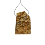 Desert Jasper Gemstone - Pendant Freeform 31x45mm - Pak of 1