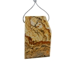 Desert Jasper Gemstone - Pendant Freeform 29x46mm - Pak of 1