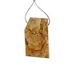 Desert Jasper Gemstone - Pendant Freeform 23x39mm - Pak of 1