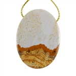 Desert Jasper Gemstone - Pendant Oval 30mm x 40mm - Pak of 1
