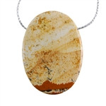 Desert Jasper Gemstone - Pendant Oval 29mm x 40mm - Pak of 1