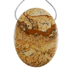 Desert Jasper Gemstone - Pendant Oval 30mm x 41mm - Pak of 1