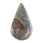 Crazy Lace Agate Gemstone - Freeform Cabochon 17mm x 20mm