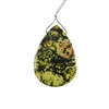 Stabilized Yellow Turquoise Gemstone - Pear Pendant 39x57mm - Pak of 1