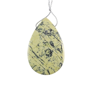 Stabilized Yellow Turquoise Gemstone - Pear Pendant 35x55mm - Pak of 1
