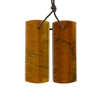 Natural Yellow Tiger Eye Gemstone - Rectangle Pendant 13x34mm - 1 Pair
