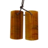 Natural Yellow Tiger Eye Gemstone - Rectangle Pendant 13x30mm - 1 Pair