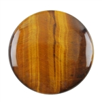 Natural Yellow Tiger Eye Gemstone - Cabochon Round 10mm - Pak of 4