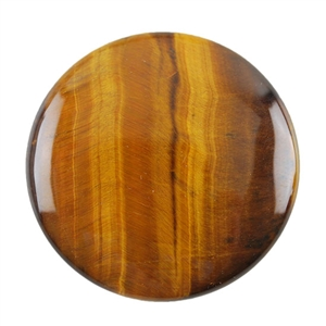 Natural Yellow Tiger Eye Gemstone - Cabochon Round 35mm - Pak of 1