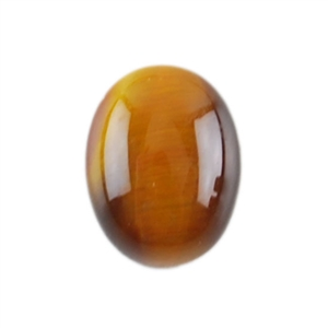 Natural Yellow Tiger Eye Gemstone - Cabochon Oval 7x9mm - Pak of 6