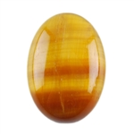 Natural Yellow Tiger Eye Gemstone - Cabochon Oval 10x14mm - Pak of 3