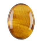 Natural Yellow Tiger Eye Gemstone - Cabochon Oval 12x16mm - Pak of 2