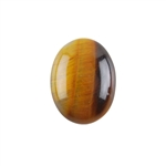 Natural Yellow Tiger Eye Gemstone - Cabochon Oval 15x20mm - Pak of 1