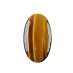 Natural Yellow Tiger Eye Gemstone - Cabochon Oval 20x35mm - Pak of 1