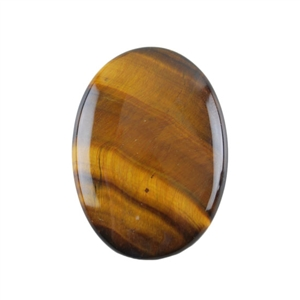 Natural Yellow Tiger Eye Gemstone - Cabochon Oval 25x35mm - Pak of 1
