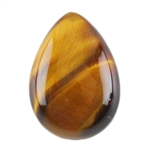 Natural Yellow Tiger Eye Gemstone - Cabochon Pear 10x14mm - Pak of 2