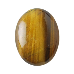 Natural Yellow Tiger Eye Gemstone - Cabochon Oval 30x40mm - Pak of 1