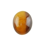 Natural Yellow Tiger Eye Gemstone - Cabochon Oval 8x10mm - Pak of 2