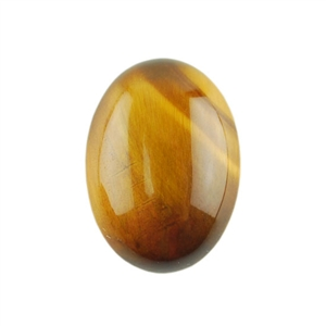 Natural Yellow Tiger Eye Gemstone - Cabochon Oval 13x18mm Pkg - 1
