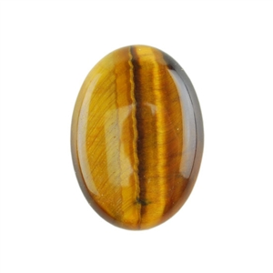 Natural Yellow Tiger Eye Gemstone - Cabochon Oval 18x25mm - Pak of 1
