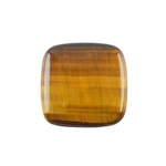 Natural Yellow Tiger Eye Gemstone - Cabochon Square 22mm - Pak of 2