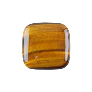 Natural Yellow Tiger Eye Gemstone - Cabochon Square 25mm - Pak of 1