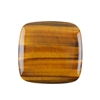 Natural Yellow Tiger Eye Gemstone - Cabochon Square 40mm - Pak of 1