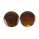 Royal Sahara Jasper Gemstone - Round Cabochon Pair 20mm - 1 Pair