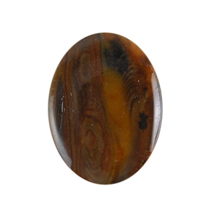 Royal Sahara Jasper Gemstone - Oval Cabochon 15mm x 20mm Pkg - 1